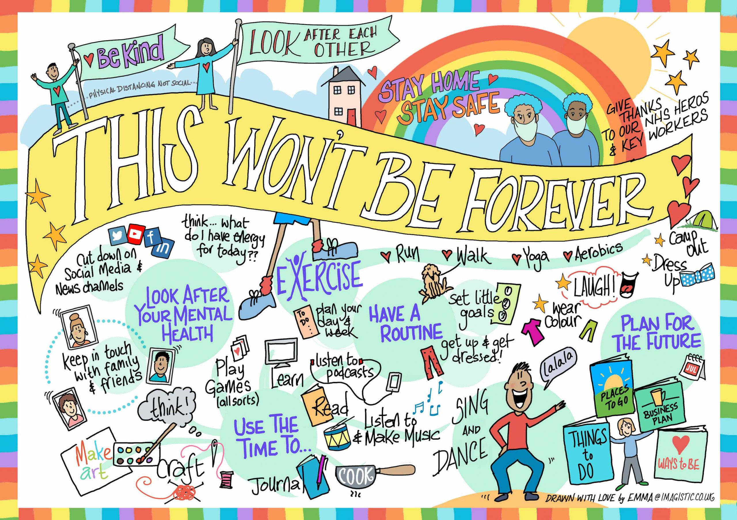 This Won't Be Forever, Covid 19 Poster By Emma Paxton