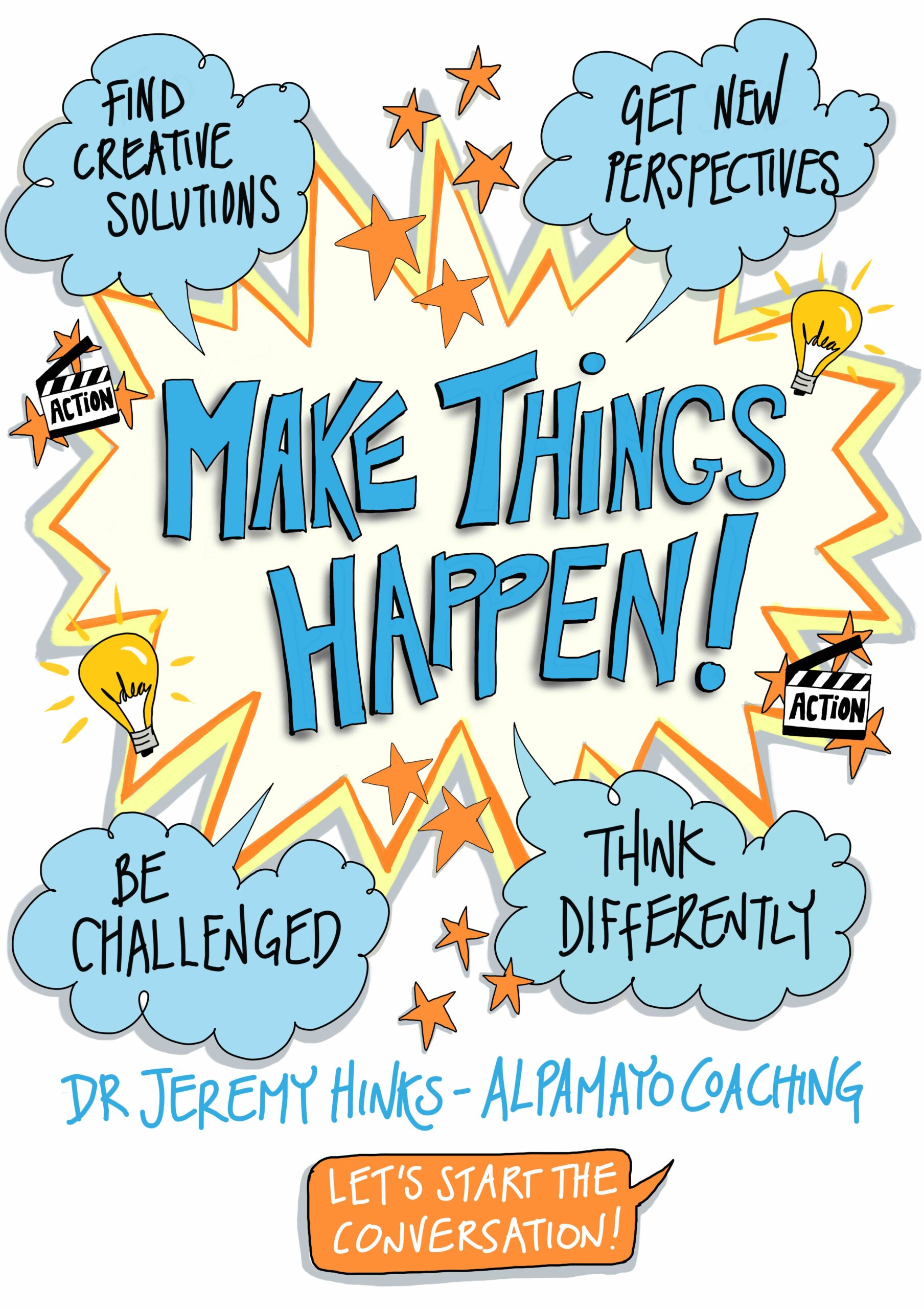 Make Things Happen - Postcard For Dr Jeremy Hinks